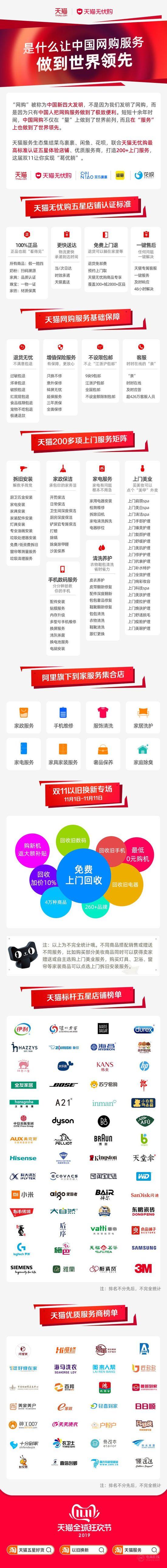 天猫双11升级200多项服务 提供一站式网购